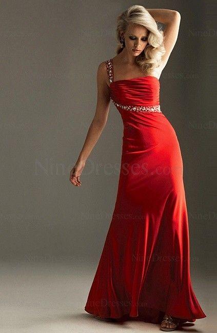 Elegant Column Floor Length Backless Ruched One Shoulder Party Dress