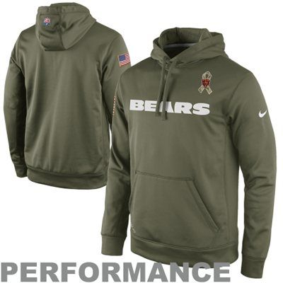 the latest d1496 3a5cf Nike Chicago Bears Salute to Service KO Pullover Performance ...