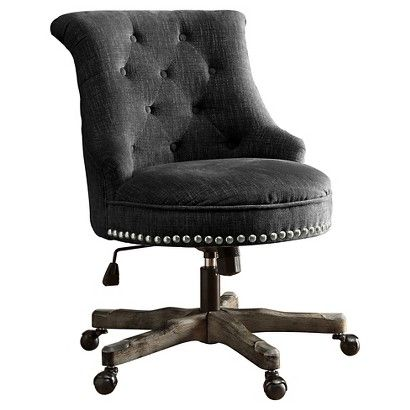 sinclair office chair - linon | dark grey, armchairs and target