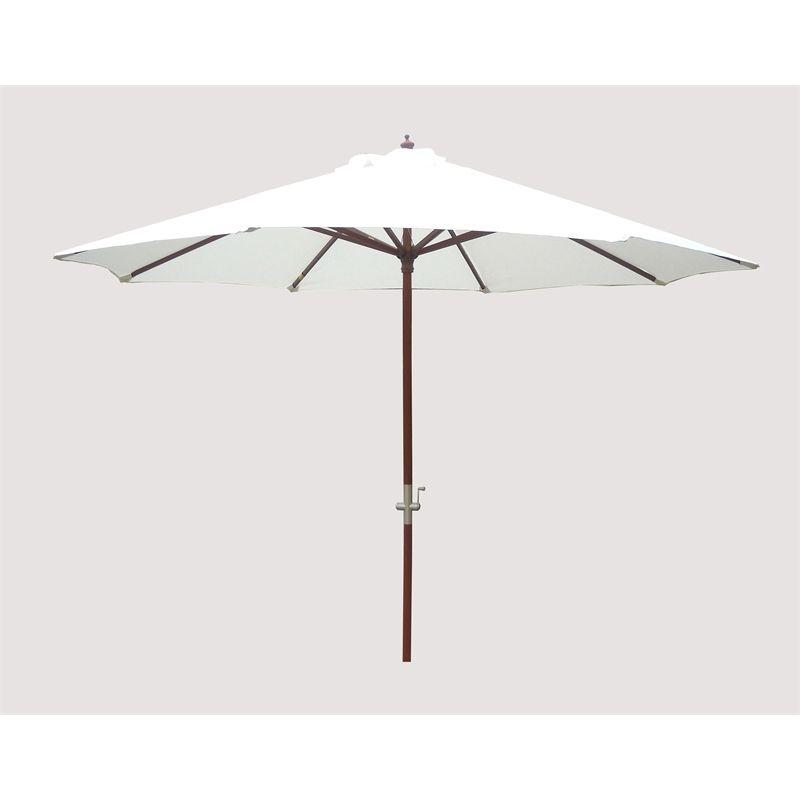 Umbrella Stand Bunnings: Mimosa 3m Natural Timber Market Umbrella I/N 3190050