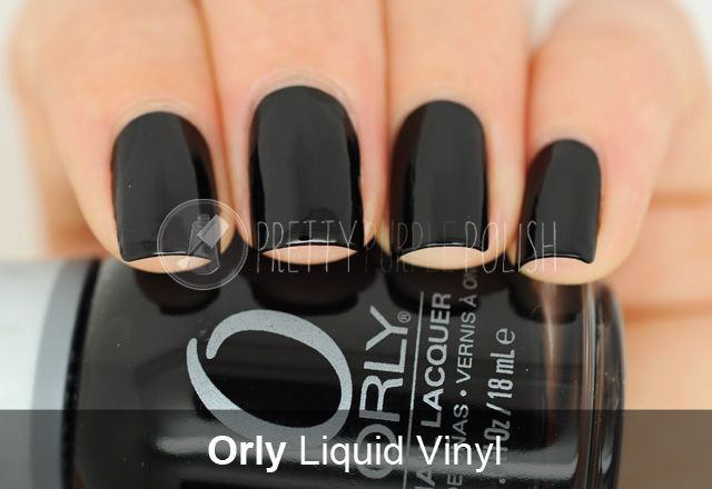 Orly - Liquid Vinyl.  Basic black, I think everyone owns a bottle of this stuff.