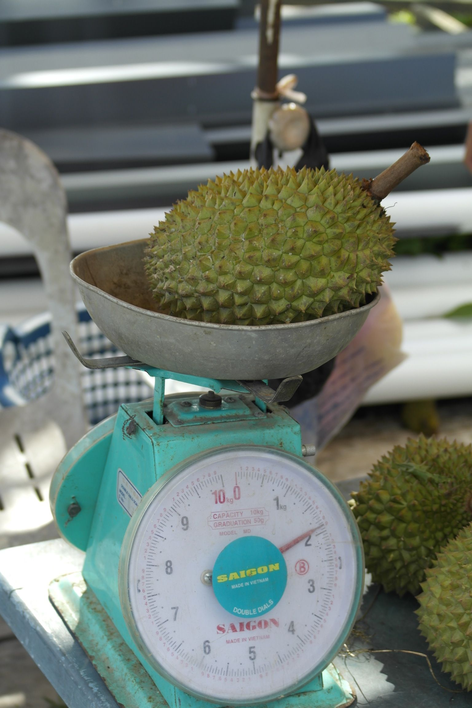 Durian fruit - smells disgusting, tastes worse!