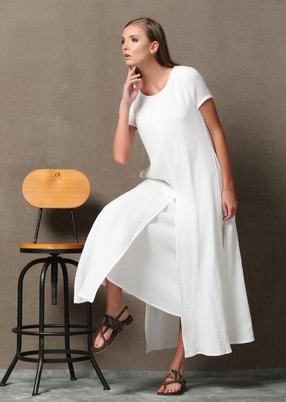 Linen dress, plus size clothing, Cotton dress, plus size dress ...
