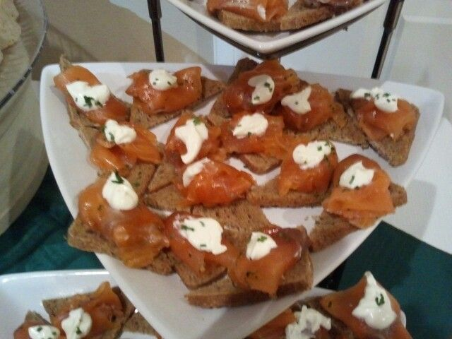 Smoked salmon with creme fraiche