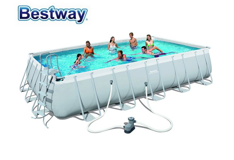 56470 Bestway 6 71x3 66x1 32m 22 X12 X52 Power Steel Rectangular Frame Pool Set Above Ground Swimming Pool F Above Ground Swimming Pools In Ground Pools Pool