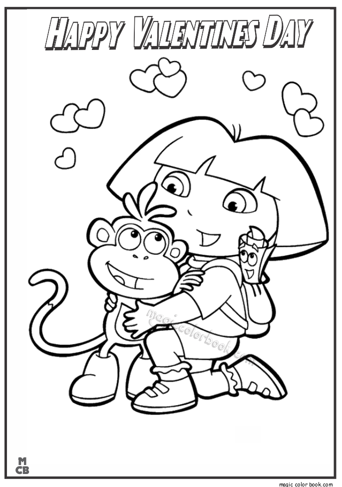 Pin By Magic Color Book On Valentine S Day Coloring Pages Kids Printable Coloring Pages Dora Coloring Cartoon Coloring Pages