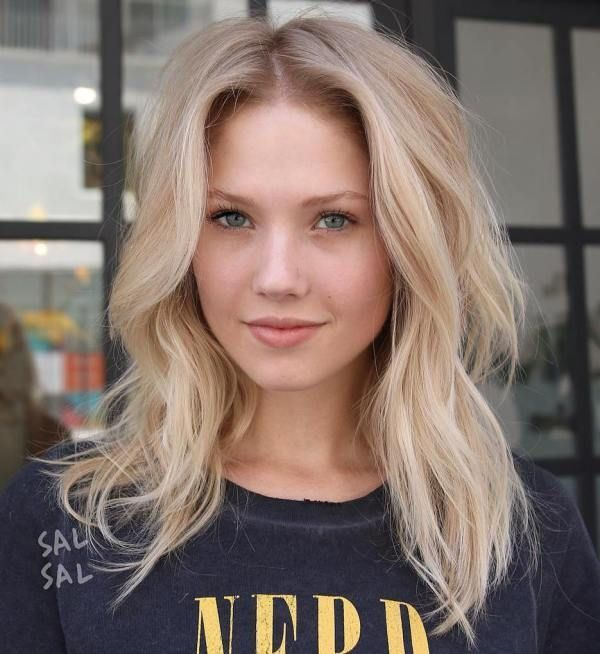 Blonde Hairstyles Messy Midlength Blonde Hair  Short Hairstyle  Pinterest  Mid