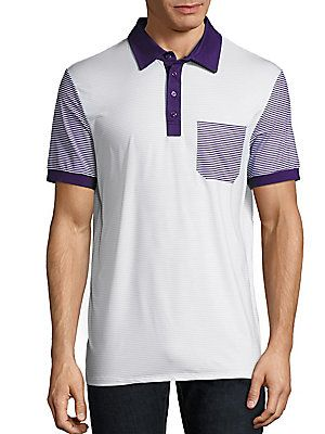 G/FORE Sky Candy Striped Polo
