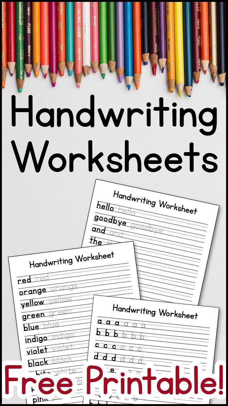 Handwriting Worksheets Free Printable Handwriting