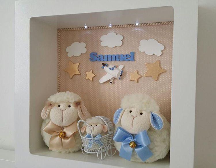 Enfeite porta maternidade de ovelhinha, com nuvens e estrelas para compor a  decoração do quarto do pequeno Samuel que esta prestes a chegar!! 722ca6d389