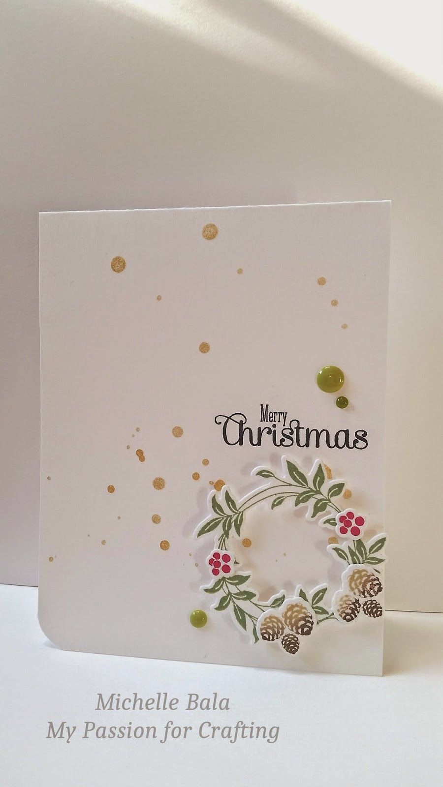 My Passion For Crafting Merry Christmas Card Paper Addict