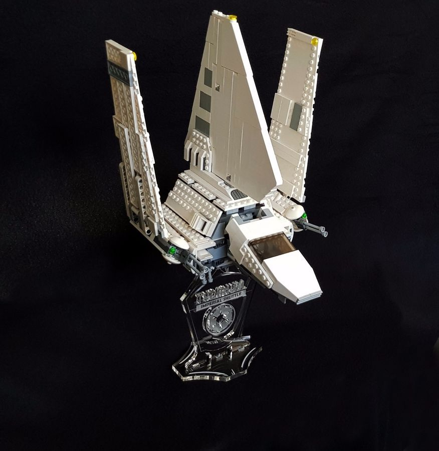 Star Wars Display stand 3D slots for Lego 75101 Tie Fighter