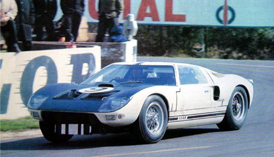 Jo Schlesser Ford Gt40 Ford Advanced Vehicles Le Mans Test