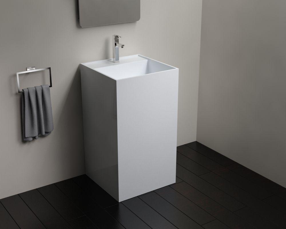 Dare To Be Square With This Edgy Badeloft Freestanding Sink Sink