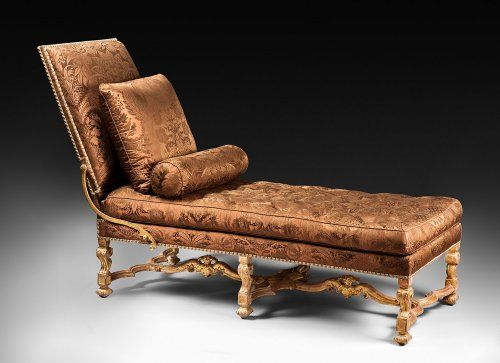 A rare gilded wood Louis XIV daybed