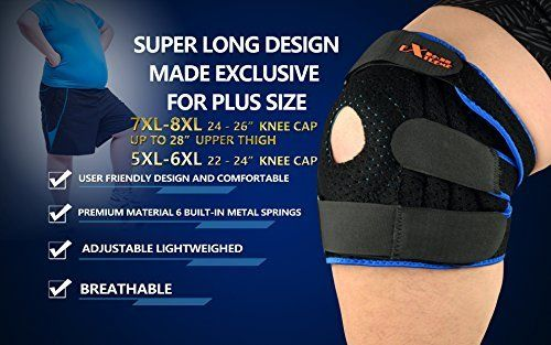 522d4af563 The TRUE BIGGEST Size Knee Brace Support on Amazon for Plus Size By Motion  Infiniti -