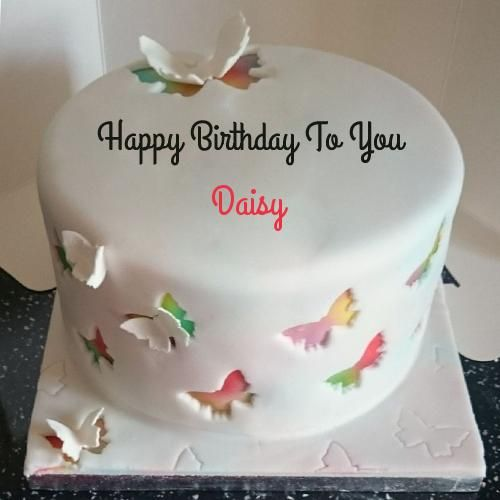Write Name On Rainbow Butterfly Birthday Cake Cakes And