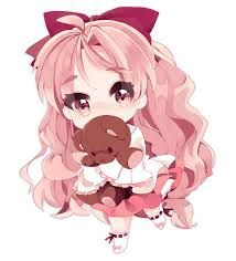 Kawaii Chibi Girl Holding A Teddy Bear So Kawaii Cute Anime Chibi Kawaii Chibi Anime