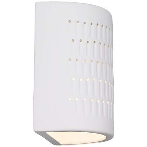 High White Ceramic Outdoor Wall Light