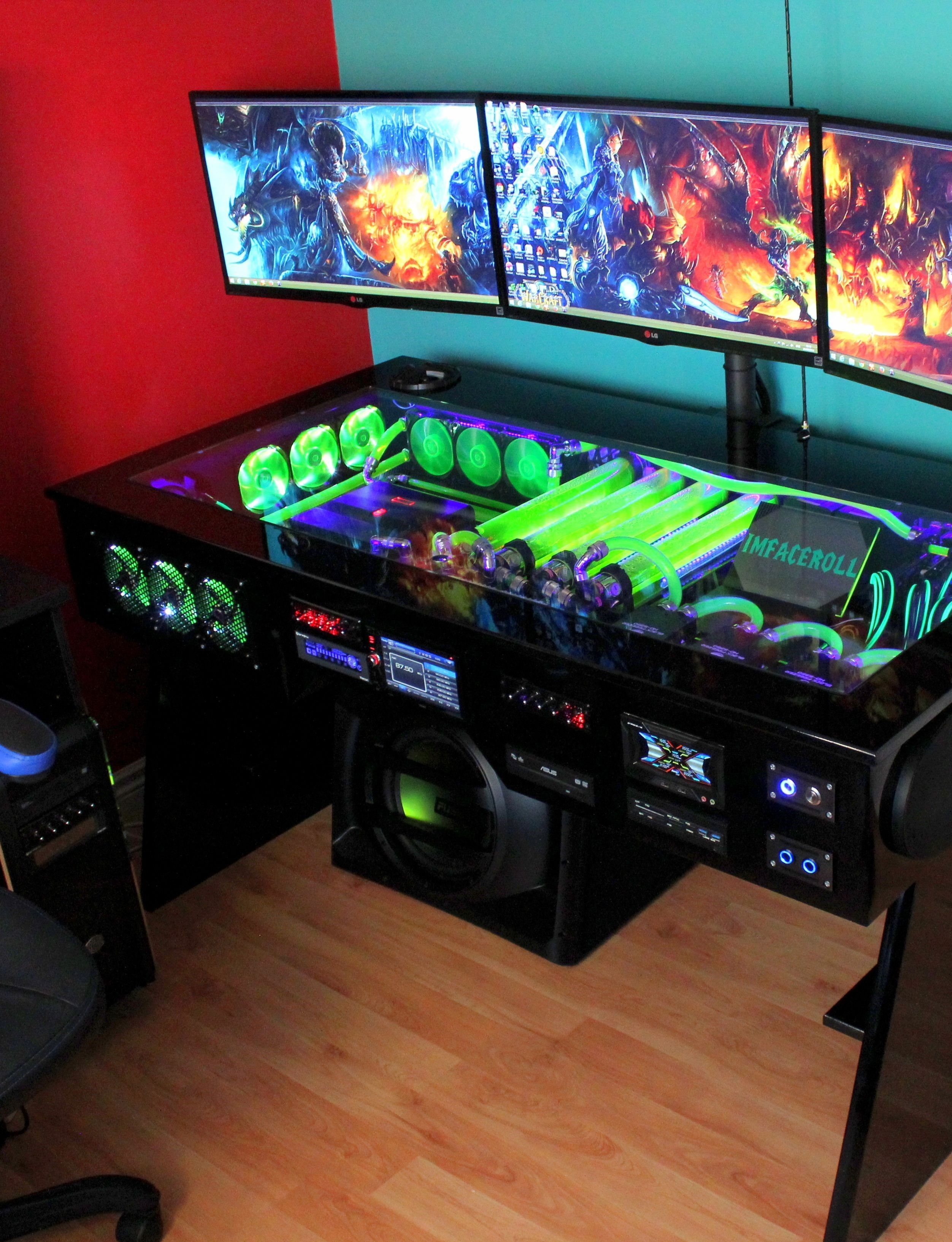 21 Diy Computer Desk Ideas You Can Build Now Gamingdesk Perfect Computer Desk Ideas On This Favorite Site Diy Computer Desk Gaming Computer Desk Computer Diy