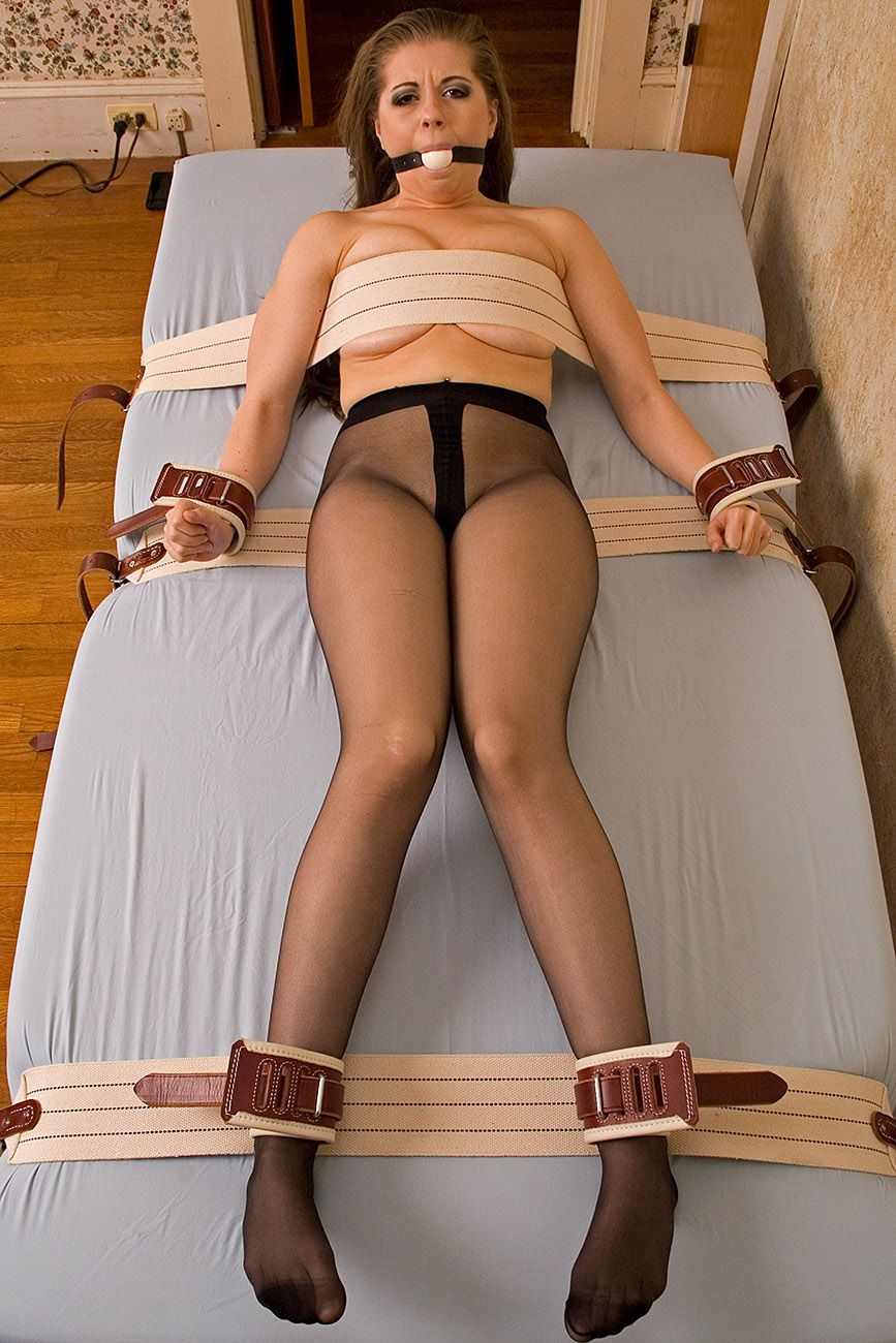 Tied up in nylons at home