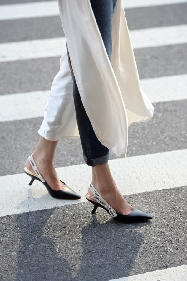 e8f17db6ed9b2 Dior kitten heels | Obsessions Now Blog | ON | Fashion Week in 2019 ...