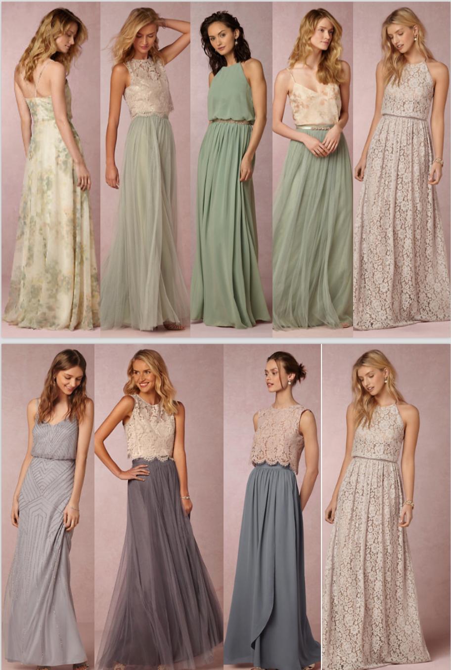 Brautkleider in Pastell Tönen  Kleider hochzeit