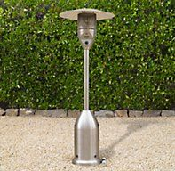 Deluxe Floor Propane Patio Heater Polished Stainless Steel | Outdoor Heaters | Restoration Hardware