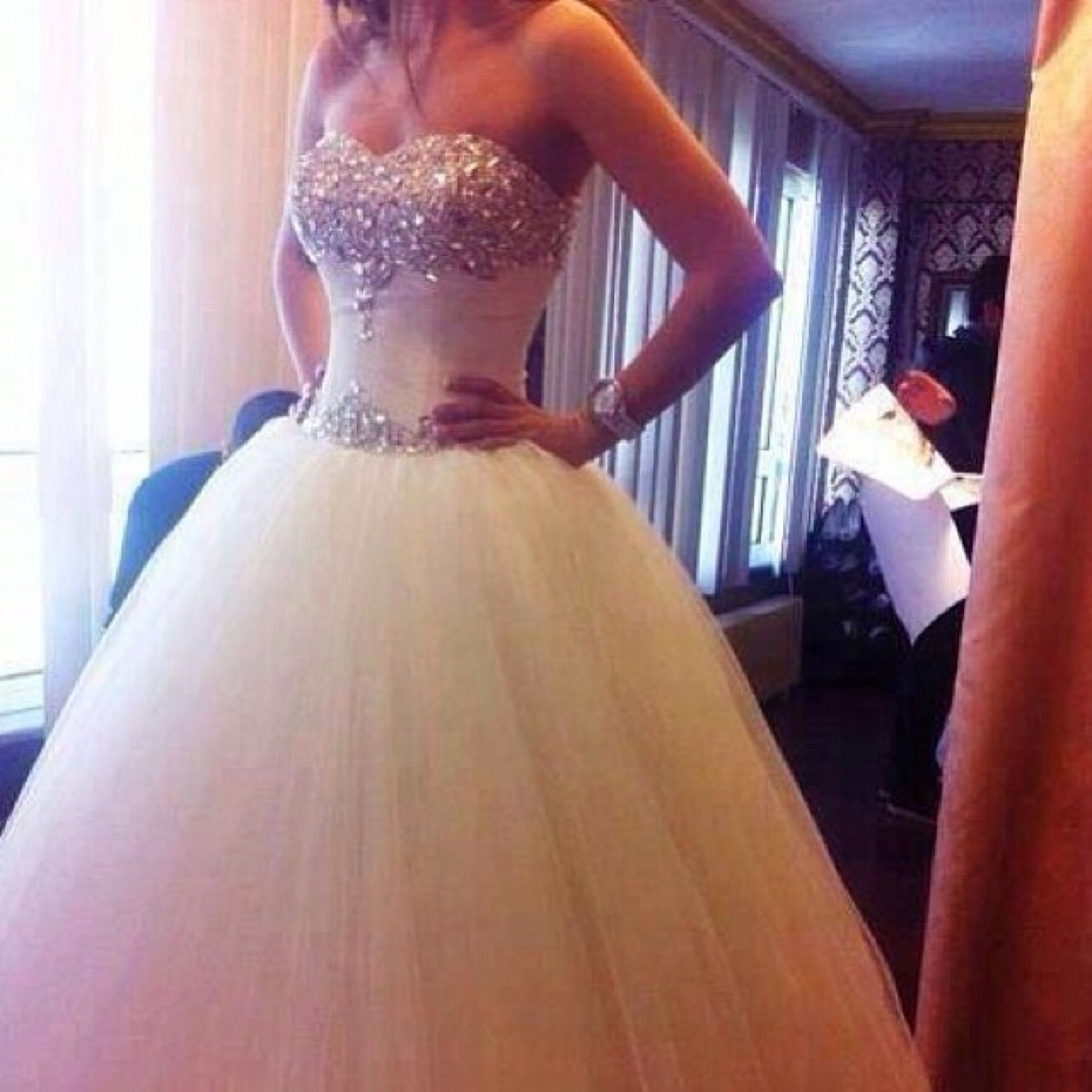 Princess Wedding Dress Bling Princess Wedding Dresses Dream Wedding Dresses Wedding Dresses [ 1800 x 1800 Pixel ]