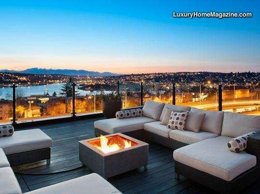 Manhattan modern roof deck high end google search for Interior design rooftop terrace