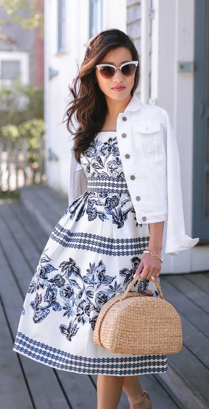 42bffb5a6507c Summer Looks White Dress Outfit Ideas | Fashion love <3 | S'habiller ...