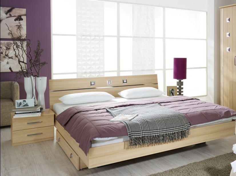 MAXIMA Futonbett/Doppelbett inkl. 2 Nachttische 160 x 200 | Buche ...