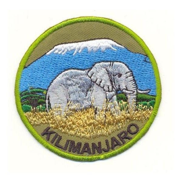 Kilimanjaro with Elephant Patch Embroidered Badge   eBay ❤ liked on Polyvore featuring fillers and patch