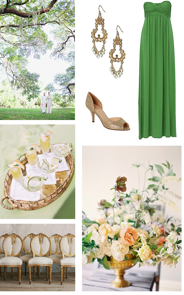 Moss green and gold theme | Amber & Alberto's Wedding Ideas