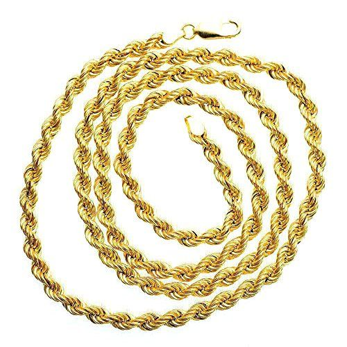 Real Gold 5mm 20 Figaro Chain Mens Necklace New Solid Gold Jewelry Men S Necklace Gold