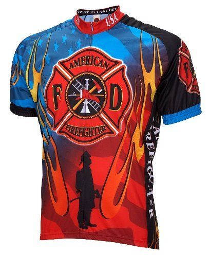 Download American Firefighter Mens Cycling Jersey bike bicycle by ...