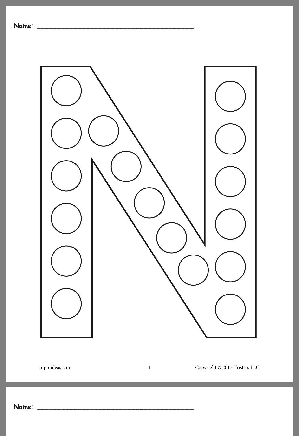 Pin By Lynsey Staner On Preschool Letter N Worksheet Letter A Crafts Letter Worksheets For Preschool