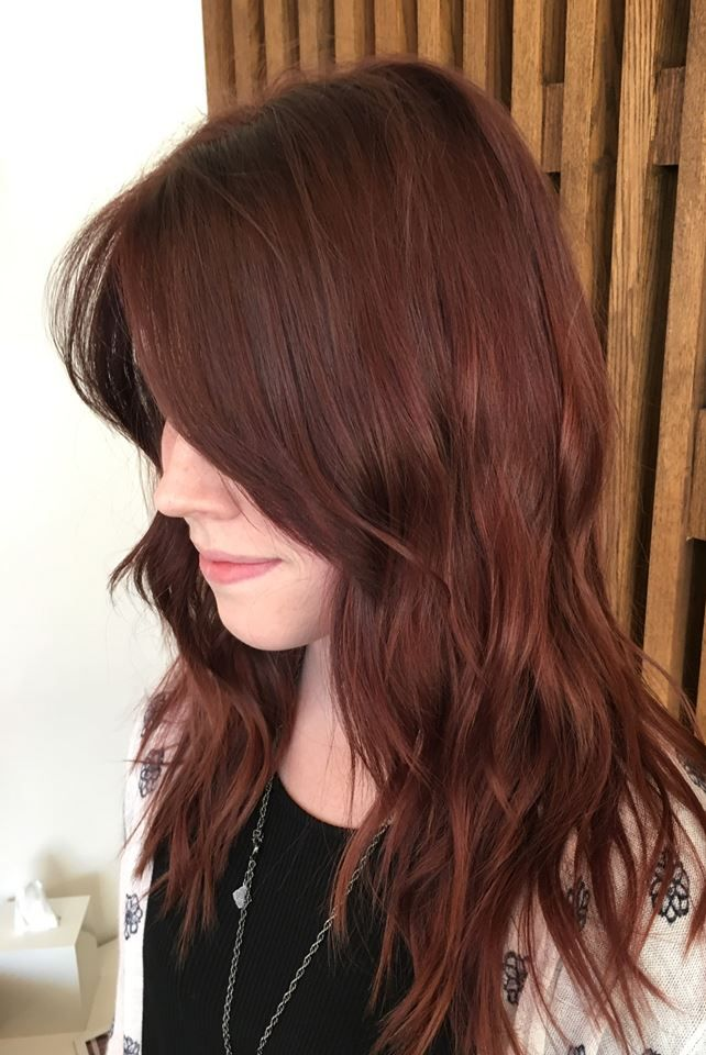 Deep Auburn Tones By Billy And Relaxed Loose Style By Rainer Red