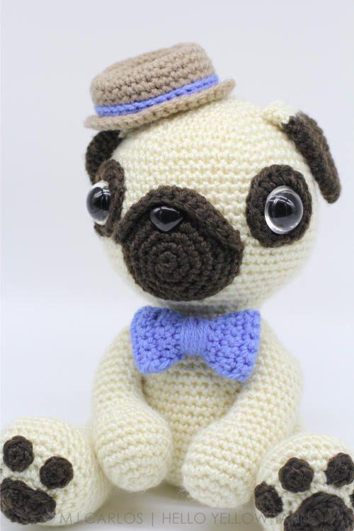 Crochet Amigurumi Pug Dog PATTERN ONLY, Pugster, pdf Stuffed Animal ...