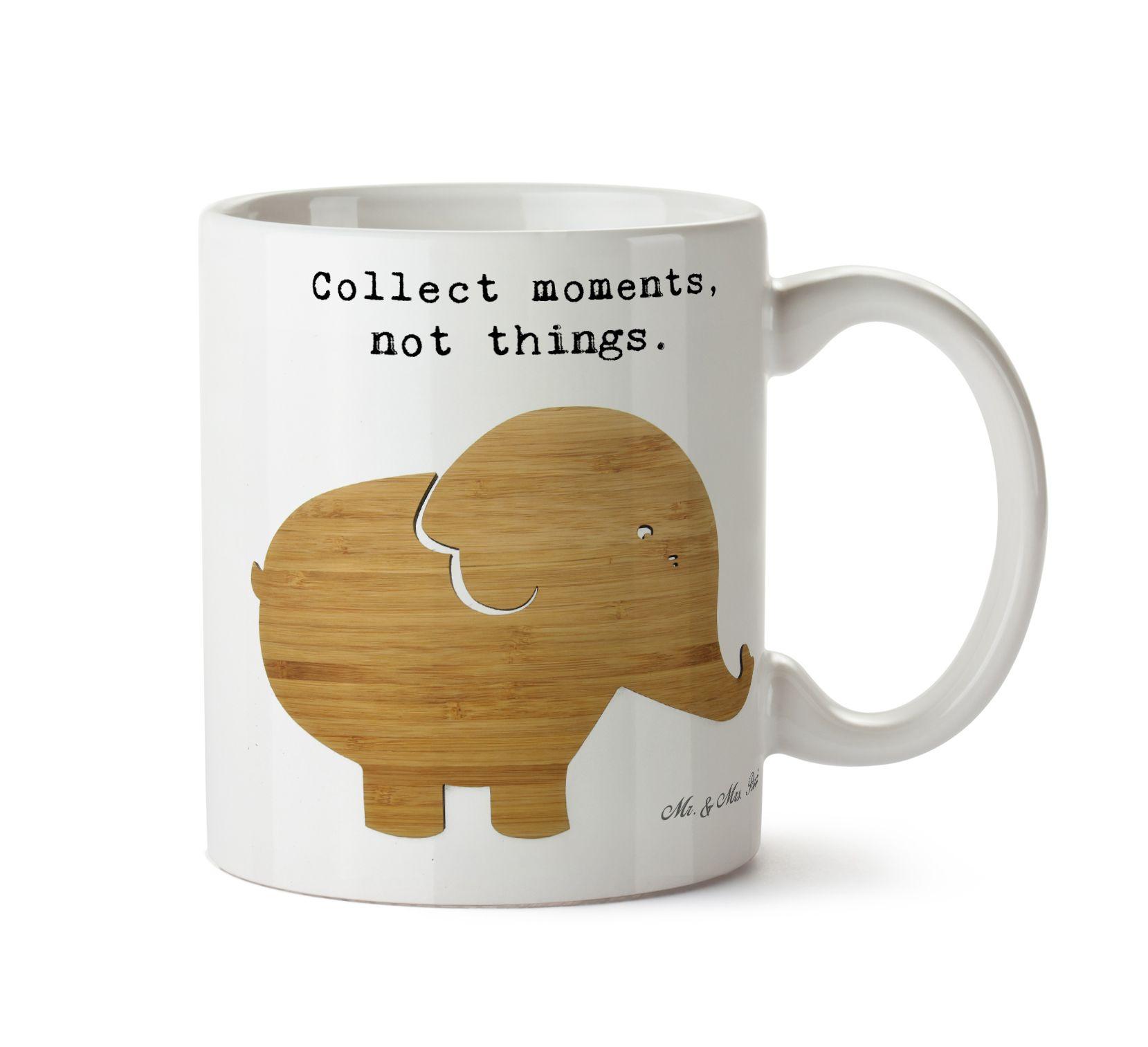 Tasse Elefant aus Keramik Weiß Das Original von Mr