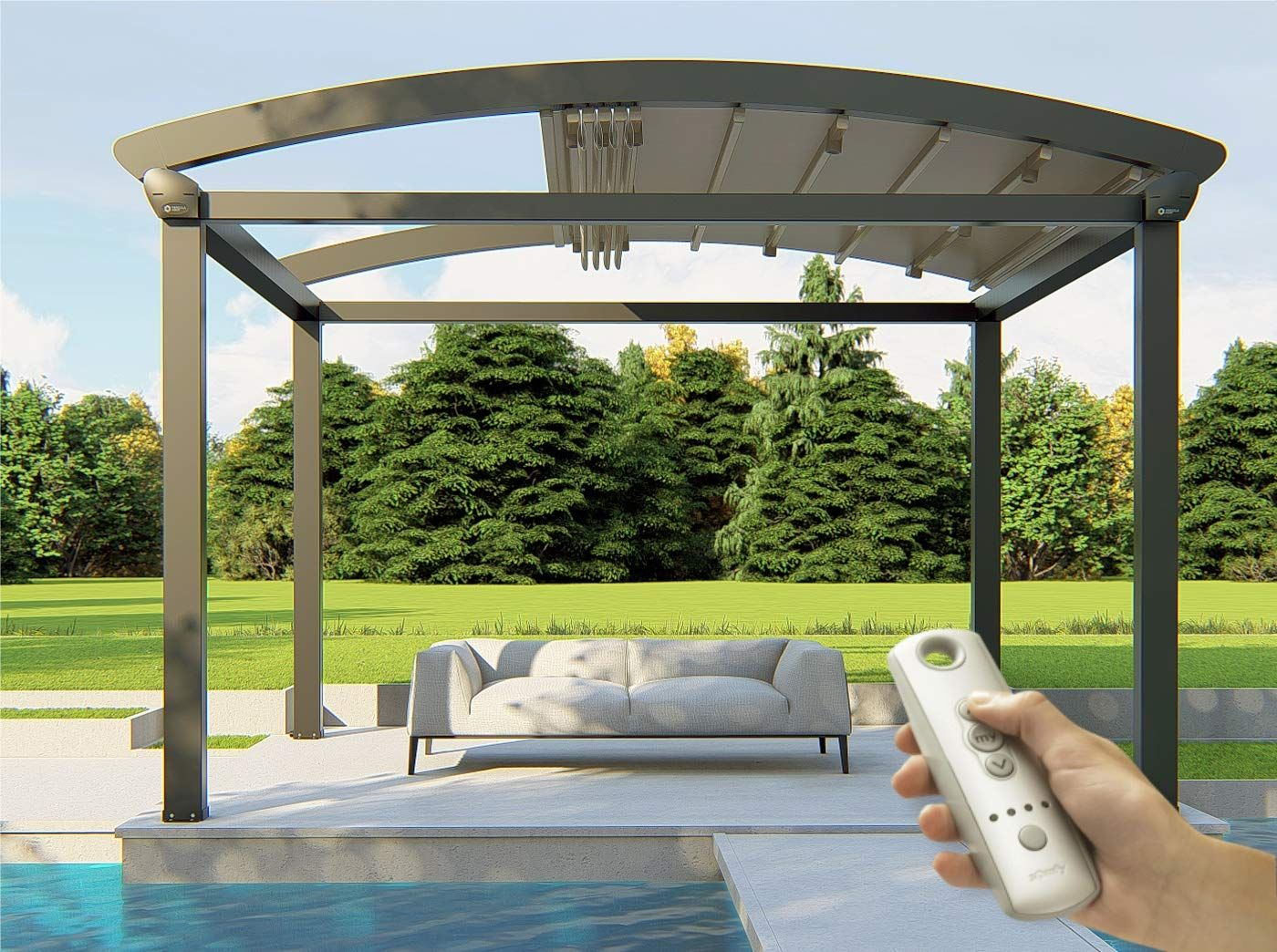 A Shady Solution Shade Sails As Awnings Decorated Life Outdoor Pergola Pergola Backyard Shade