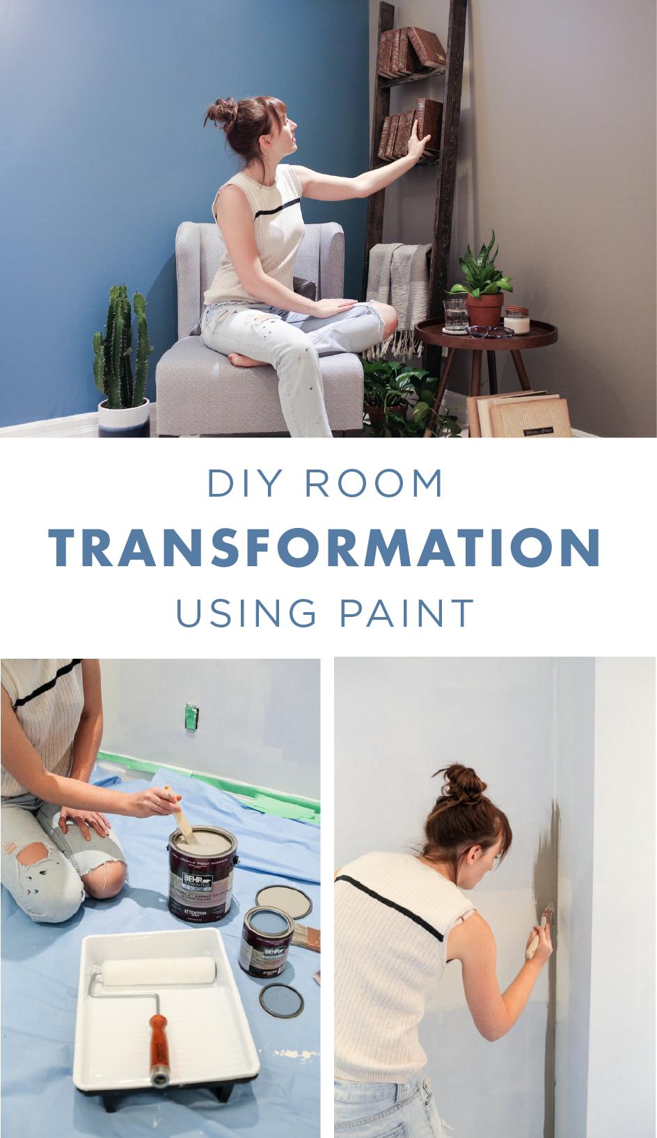 dingey room transformation using colour trends blue rooms rh pinterest com