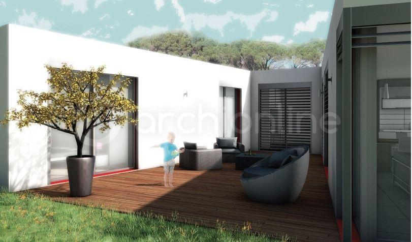 Maison Upsilon - Plan de maison Moderne par Archionline