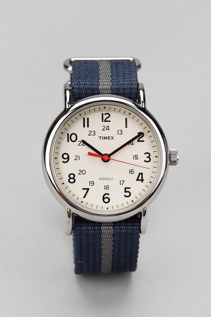 Timex Striped Band Weekender Watch  urbanoutfitters Reloj Timex e1c6b48d97b6