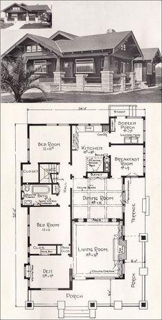 California Bungalow House Plans Bungalow House Plan California Craftsman 1918 Home Plan By E W Craftsman House Plans Craftsman House Craftsman Bungalows