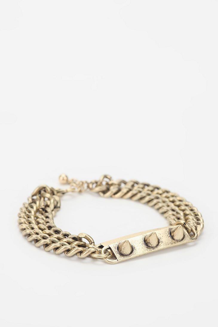 Layered ID Bracelet  #UrbanOutfitters