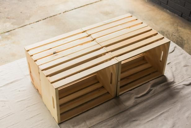 Make A Mobile Outdoor Coffee Table From Wooden Crates Handmade