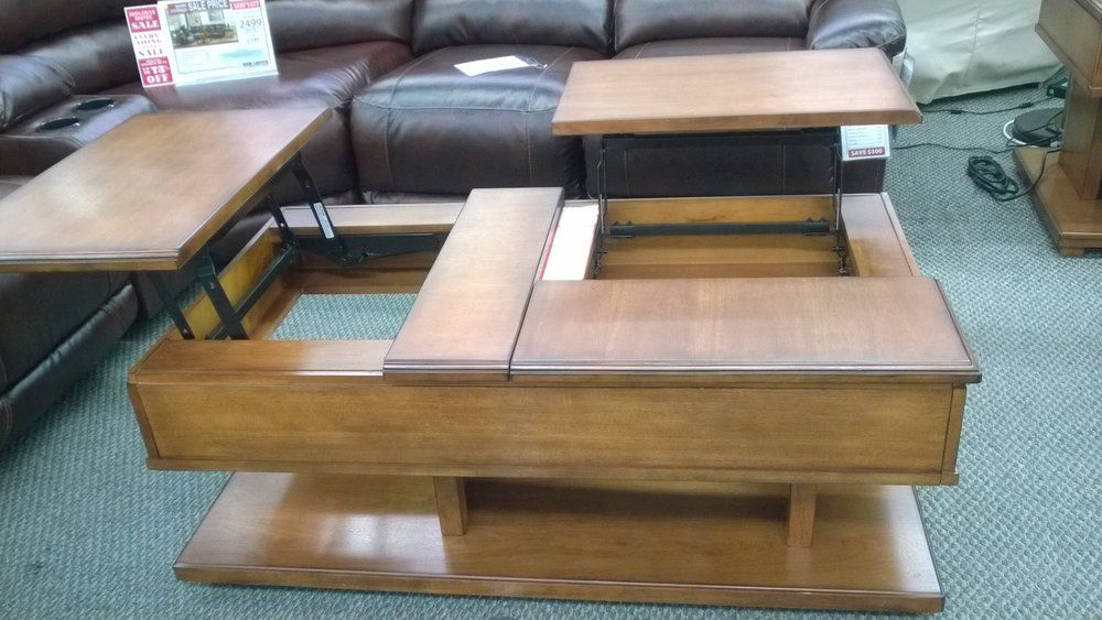 Interesting Double Lift Coffee Table, Doesnu0027t Sit Flush But Neat Idea From  Ashley · TucsonCoffee Tables