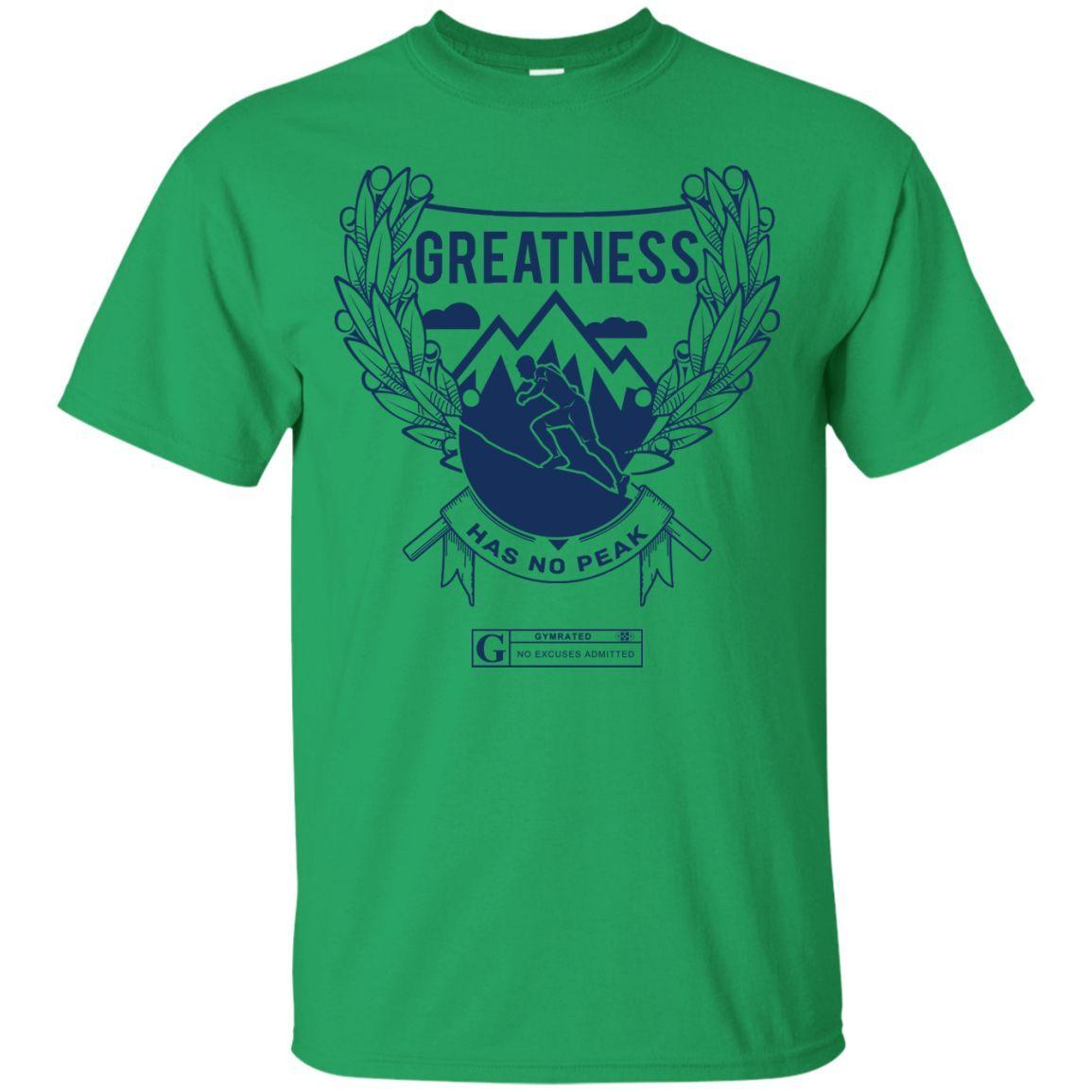"""Greatness Has No Peak"" Men's Tees & Tanks"