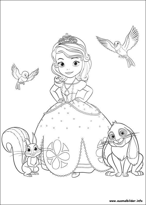 Sofia Die Erste Malvorlagen Disney Prinzessin Malvorlagen